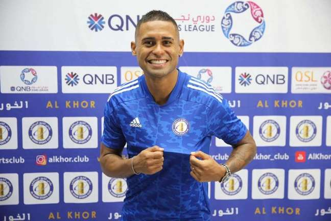 Kayke já foi apresentado pelo Al-Khor, seu novo clube no Qatar (Foto: Divulgação)