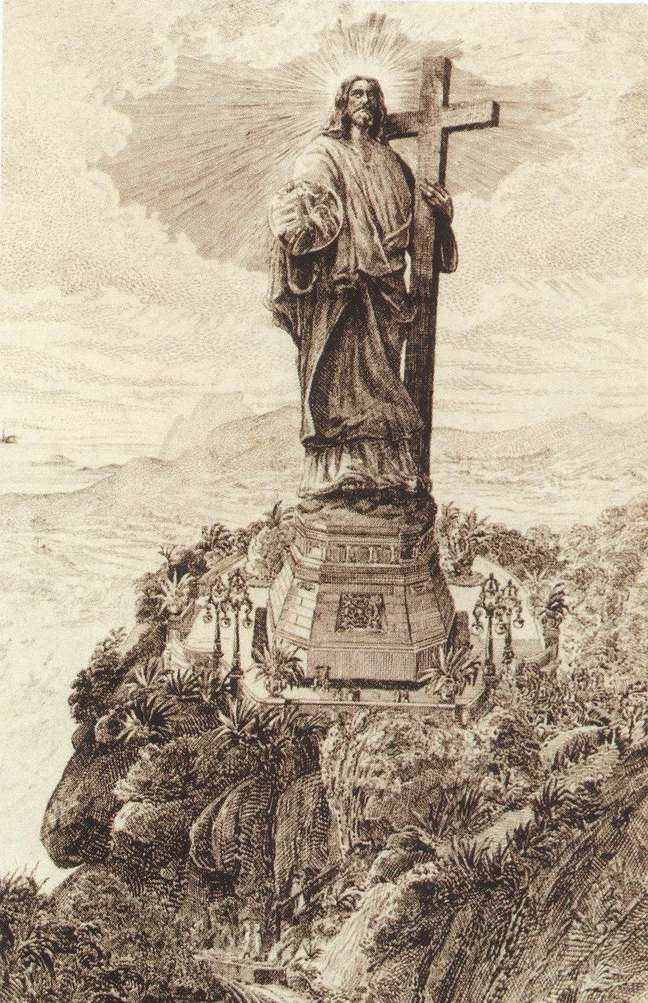O 'Cristo da bola', como ficou conhecido o primeiro projeto para o Cristo Redentor