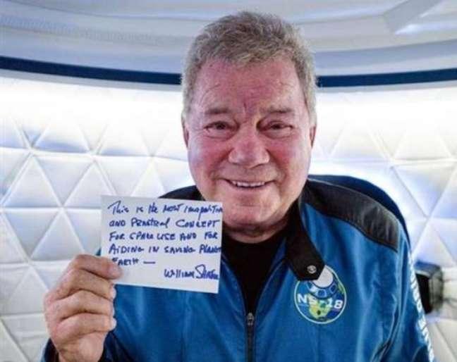 William Shatner é a pessoa mais velha a ir ao Espaço