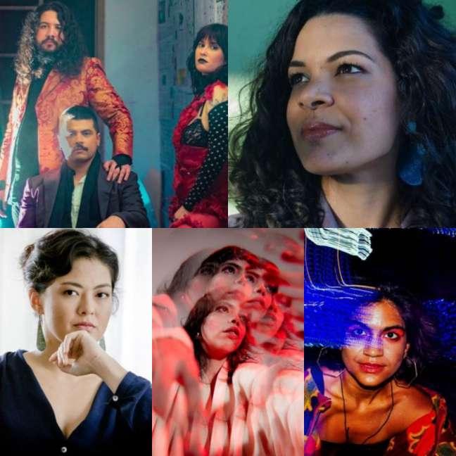 Artistas mulheres selecionadas pelo programa da Treinam para show no Itaú Cultural