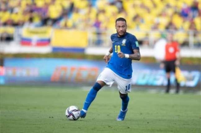 Neymar não foi bem contra a Colômbia (Foto: Lucas Figueiredo/CBF)
