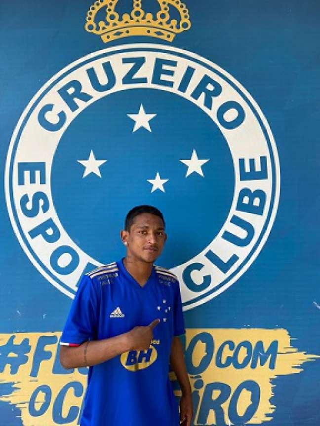 """Gabriel """"Fortaleza"""" veio do sul do Brasil para fechar com a Raposa-(Divulgação/Cruzeiro)"""