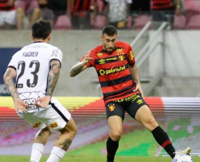 Paulinho Moccelin anotou o gol do Sport contra o Corinthians (Anderson Stevens/Sport)