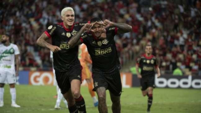 Pedro e Kennedy marcaram dois dos gols do Flamengo contra o Juventude (Alexandre Vidal /Flamengo)