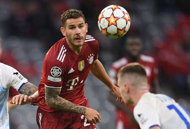 Lucas Hernández, do Bayern de Munique 29/09/2021 REUTERS/Andreas Gebert