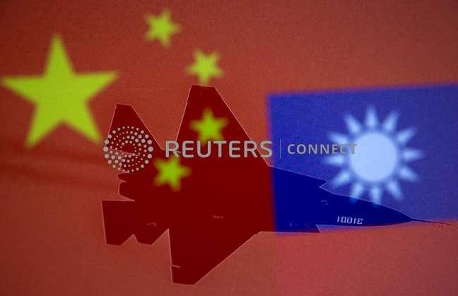 Bandeiras da China e Taiwan em ilustração 09/04/2021 REUTERS/Dado Ruvic/Ilustração/Arquivo