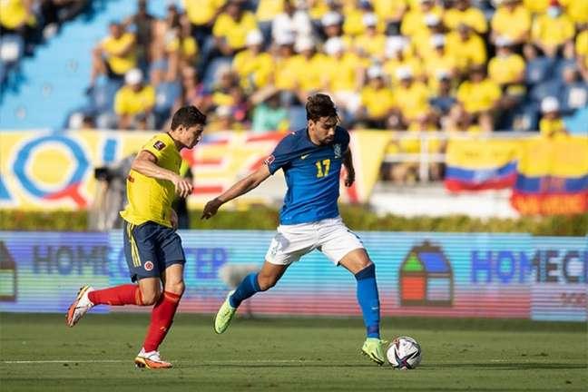 Colômbia conseguiu segurar empate contra o Brasil no último final de semana (Foto: Lucas Figueiredo / CBF)