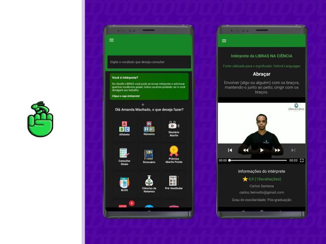 O app é voltado para intérpretes e também para quem quer aprender a língua.