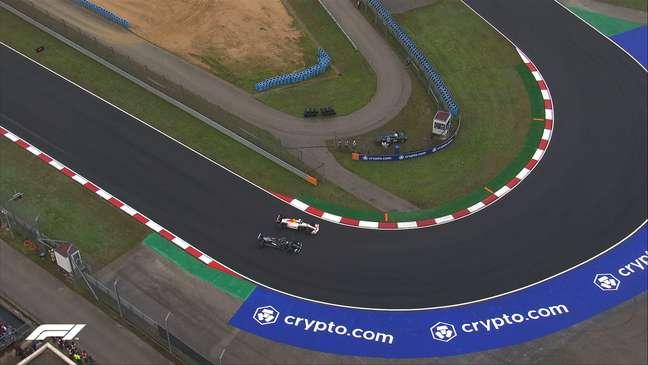 Grande duelo entre Hamilton e Pérez na Turquia