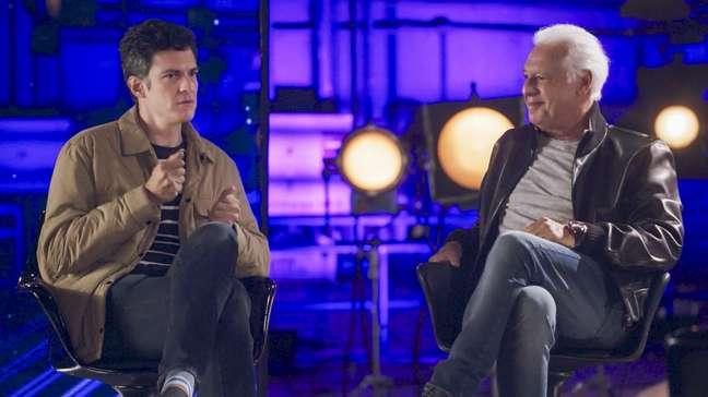 Matheus Solano e Antonio Fagundes na série Orgulho Além da Tela