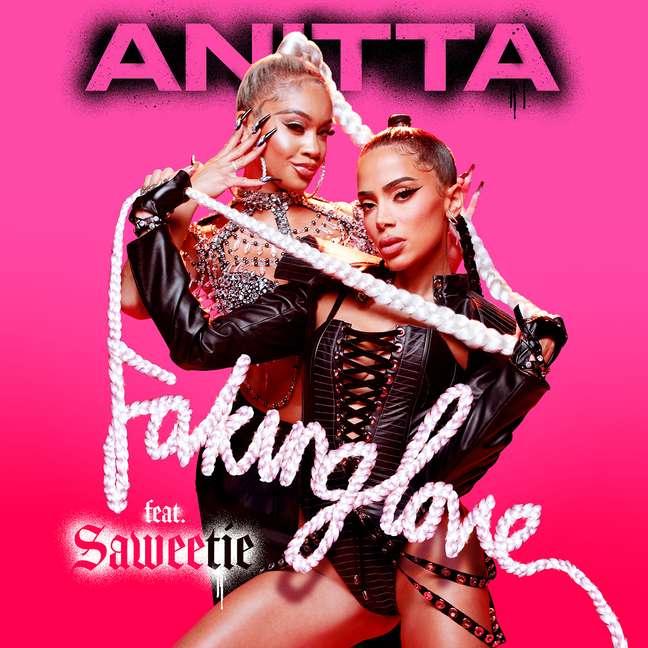 Capa do novo single de Anitta, em parceria com Saweetie