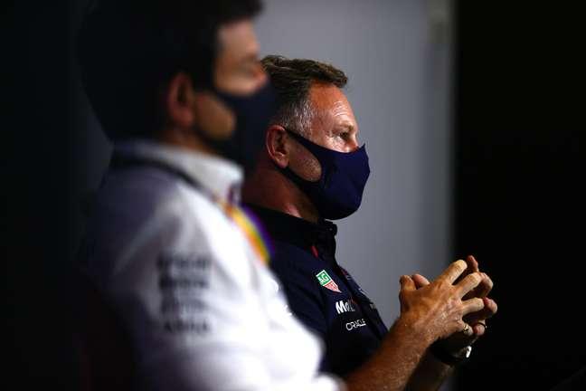Toto Wolff e Christian Horner: rivais nesta temporada 2021 da F1