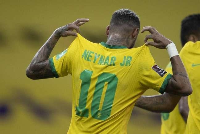 Neymar em ação pela Seleção Brasileira (Foto: Lucas Figueiredo/CBF)