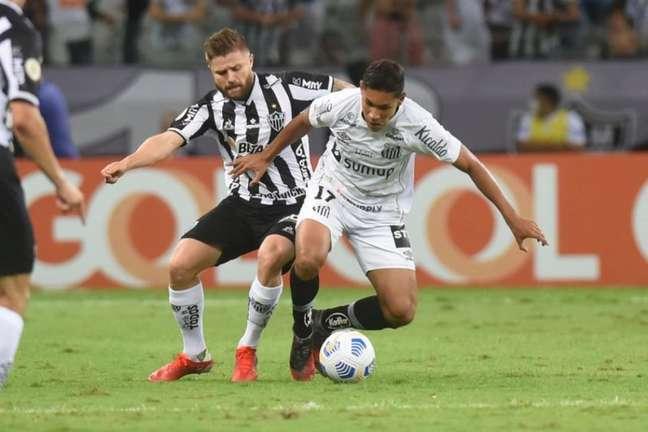 Santos perdeu para o Atlético-MG por 3 a 1 na noite desta quarta-feira, no Mineirão (Foto: Ivan Storti/Santos FC)