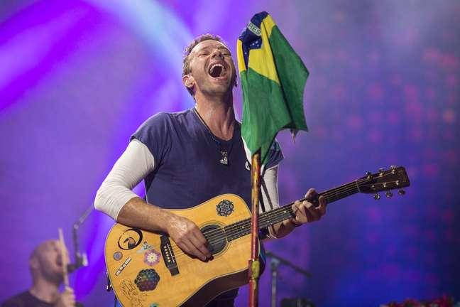 Coldplay se apresentou no Allianz Parque, em São Paulo, em 2017