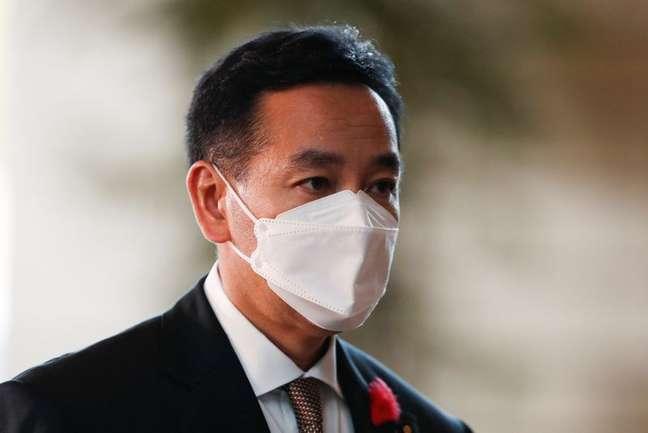 Daishiro Yamagiwa, ministro da Economia do Japão 04/10/2021 REUTERS/Issei Kato
