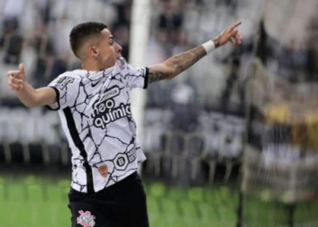 Gabriel Pereira comemora o gol (Foto: Rodrigo Coca/Ag. Corinthians)