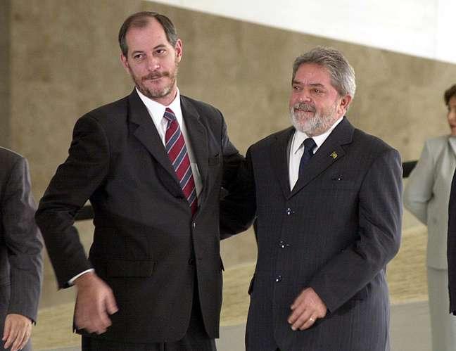 Ciro Gomes, então ministro de Lula, durante cerimônia em Brasília em 2004