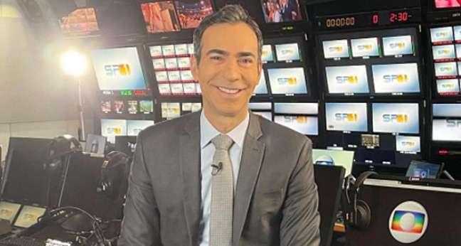 Cesar Tralli no switcher da Globo em SP: profissionalismo valorizado pelo carisma