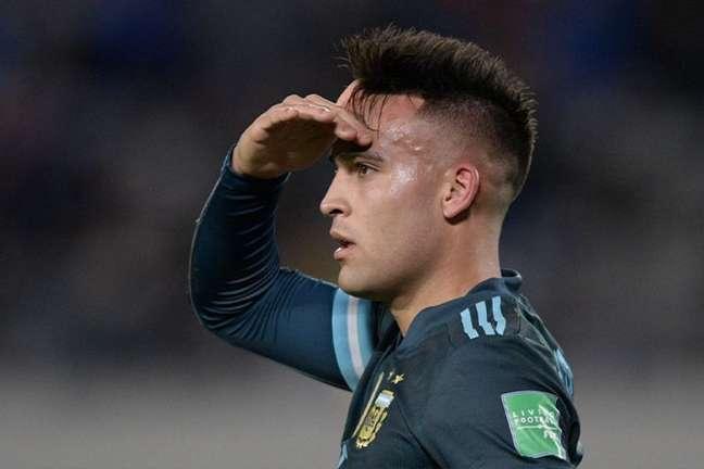 Lautaro marcou o único gol do confronto e chegou ao seu quinto nas Eliminatórias (Foto: Juan Mabromata / AFP)