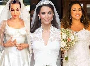 Jolie se casa de Versace; veja vestidos de noiva de famosas