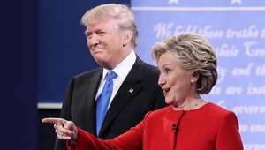 Hillary venceu debate contra Trump para 62%, segundo a CNN