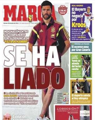 Jornal: declarações de Xabi Alonso racham vestiário espanhol