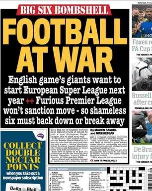 Confira as capas dos jornais europeus sobre a Superliga