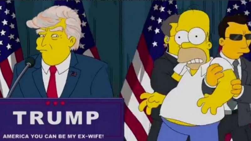 Trump presidente dos EUA: a previsão de 'Os Simpsons'
