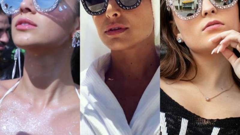 dd6118df6f4cb Óculos de sol Gucci com estrelas e brilho vira queridinho de famosos. Saiba  mais