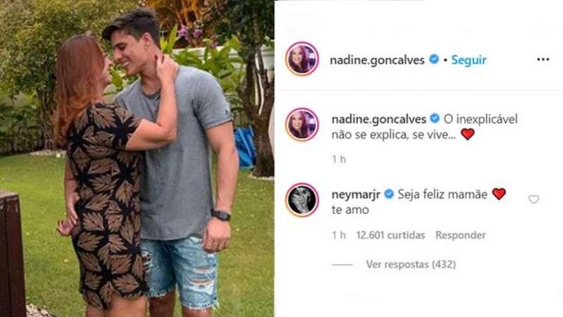 Mãe de Neymar assume namoro com gamer e craque comenta: 'Seja feliz'