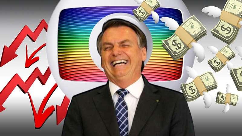 Bolsonaro faz inimiga Globo deixar de ganhar R$ 400 milhões
