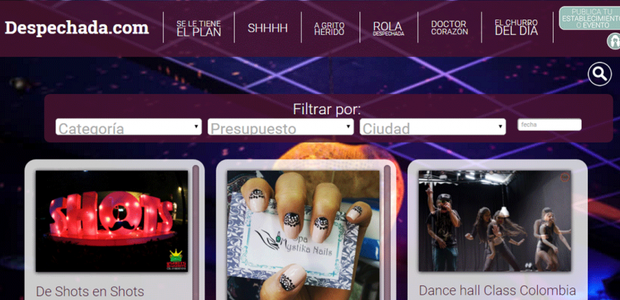 Site colombiano faz sucesso com mulheres