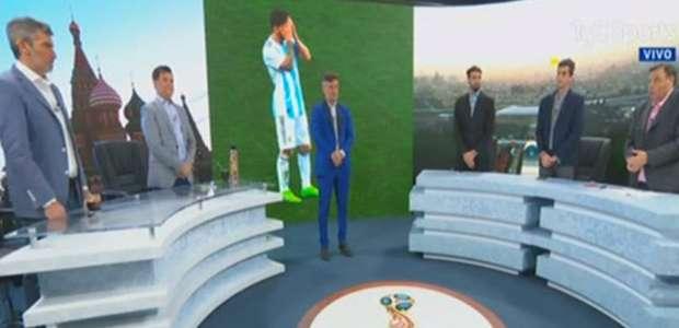 TV argentina faz minuto de silêncio por 'morte' de seleção