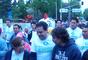 Los aspirantes presidenciales Josefina Vázquez Mota, del Partido Acción Nacional (PAN), y Gabriel Quadri, del Partido Nueva Alianza (Panal), se saludaron este domingo en la carrera por el Día de la Familia.