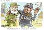 El escándalo desatado por las declaraciones de Ozzie Guillén, mánager de los Marlins de Miami, alabando a Fidel Castro siguen generando polémica. Ahora, algunos creativos usuarios de las redes sociales han empezado a difundir caricaturas y fotomontajes que ironizan sobre el tema. En esta caricatura, compartida por @ahorreenergiaya, Guillén le agradece a Castro por asistir a su fiesta de retiro.