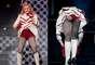 """Madonna no se cansa de exhibir su anatomía en el marco del """"MDNA Tour"""", ahora el turno fue para los españoles, quienes pudieron admirar en un buen ángulo los glúteos de la diva cubiertos con una ropa íntima de color rojo pasión."""