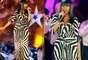Jennifer Hudson enseñó sus curvas con un ajustado y apretado vestido de cebra, muy escotado, mientras ensayaba para el concierto que dará en Boston, en el marco de las celebraciones del Día de la Independencia.
