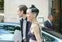 A americana Michelle Harper é presença certa nas semanas de moda, e sempre chama a atenção com seu penteado e seus figurinos fora do convencional