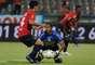 Germán Ezequiel Cano, autor del gol del DIM sobre el Deportivo Pasto, terminó expulsado en el juego.
