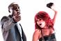 """Dulce María ft. Akon - """"Beautiful"""". La pareja de músicos se complementó a la perfección con este tema, que presentaron por primera vez en vivo durante el festival radiofónico de """"Los 40 Principales"""", el 1 de abril de 2009."""