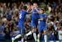 Gary Cahill celebrates scoring Chelsea's second goal with John Terry