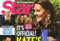 """Is it official or not, folks? Star Magazine says """"an official announcement"""" about Kate Middleton's pregnancy may not come for months (so don't listen to the cover story). Apparently Kate and William got it on during a """"passionate night"""" at a country house right after the Olympics (now who the heck would know this?). Amongst the baby names being considered are Diana (oh no she di-in't) and Elizabeth (oh yes she did)!"""
