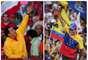 El presidente Hugo Chávez y el opositor Henrique Capriles congregaron a lo largo de este jueves miles de simpatizantes en sus cierres de campaña para la elección presidencial del domingo, una de las más reñidas de la historia democrática venezolana y donde ambos contrincantes hicieron su último esfuerzo público para alzarse con la victoria.
