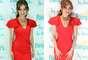 """Thalía deslumbró a muchos, al lucir un ceñido vestido rojo, que resaltó sus curvas, durante la presentación, en Miami, de la campaña """"Mi Música, Mi Herencia""""."""