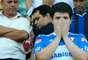 Torcida do Palmeiras se desespera e chora com o rebaixamento após empate por 1 a 1 com o Flamengo, em Volta Redonda
