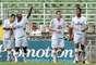 Malaquias comemora gol na vitória do Bragantino por 3 a 0 sobre o Boa Esporte em casa