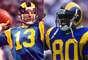 Kurt Warner y Isaac Brucejugaron en dos Super Bowls juntos, pero son más recordados por sus hazañas en el Super Bowl XXXIV, cuando Warner se conectó con Bruce para un touchdown de 73 yardas con 2:16 restantes para dar a los Rams una victoria por 23-16. Bruce agarró 6 pases para 162 yardas y un touchdown en el juego, mientras que Warner estableció un récord de Super Bowl con 414 yardas y lanzó para dos touchdowns, para ganar el MVP del juego.