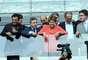 """Dilma Rousseff discursou na cerimônia realizada em Belo Horizonte e falou com emoção do estádio. """"Ao ver esse Mineirão da minha juventude transformado neste belo e moderno estádio, vejo também aqui, reafirmada, a extraordinária capacidade de realização dos mineiros e dos brasileiros"""", disse a presidente"""