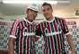 Felipe foi apresentado no Fluminense ao lado do lateral-esquerdo Fabian Monzón, que estava no Lyon